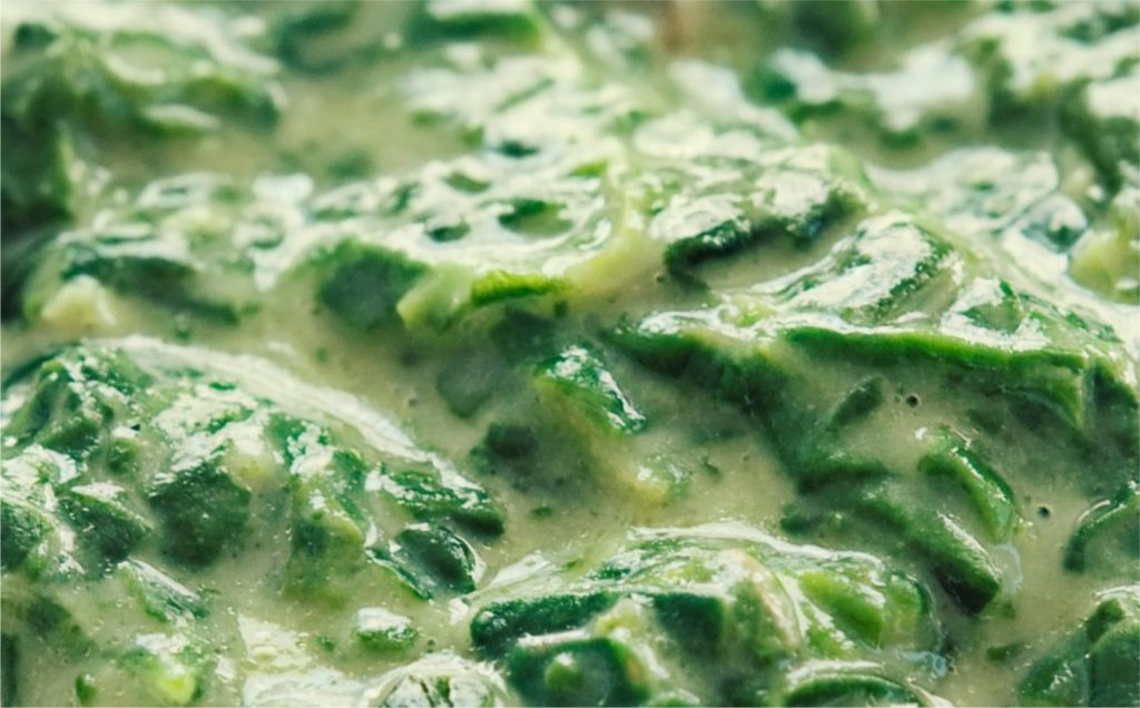 White Lightning Creamed Spinach Recipe