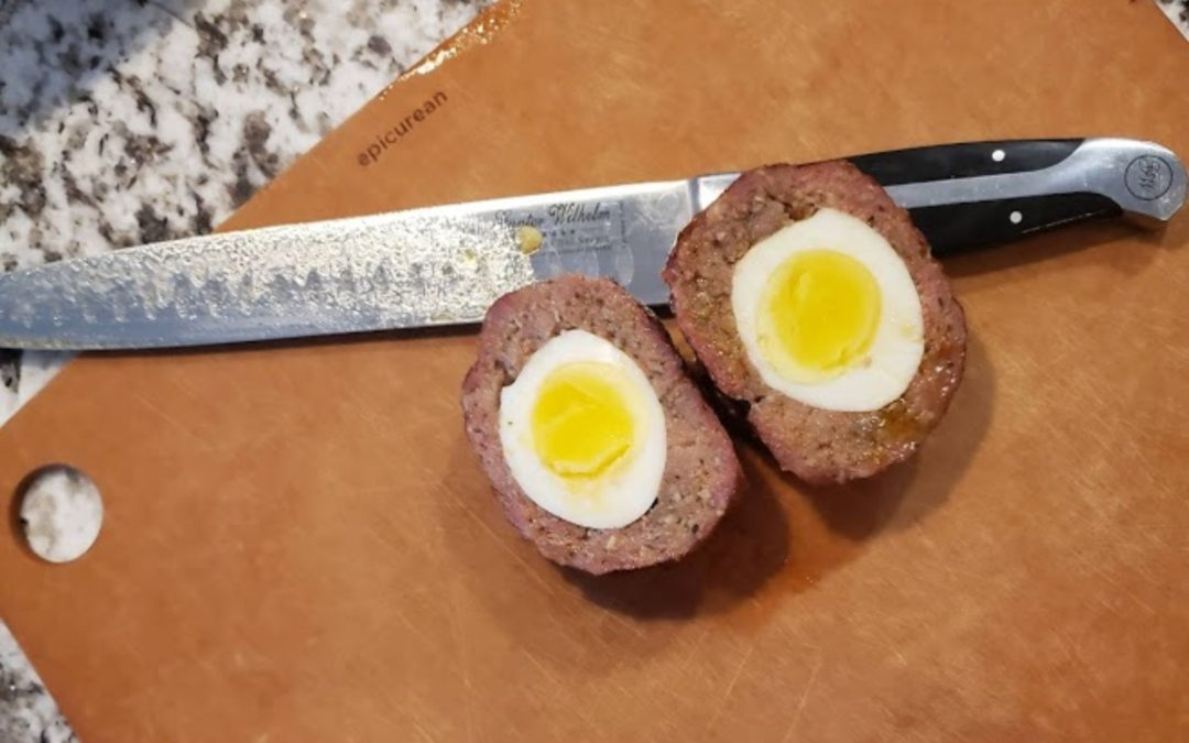 Smoked Scotch Eggs with Runny Yolk