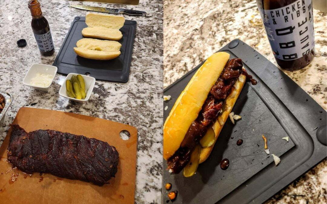 Homemade Rib Sandwich