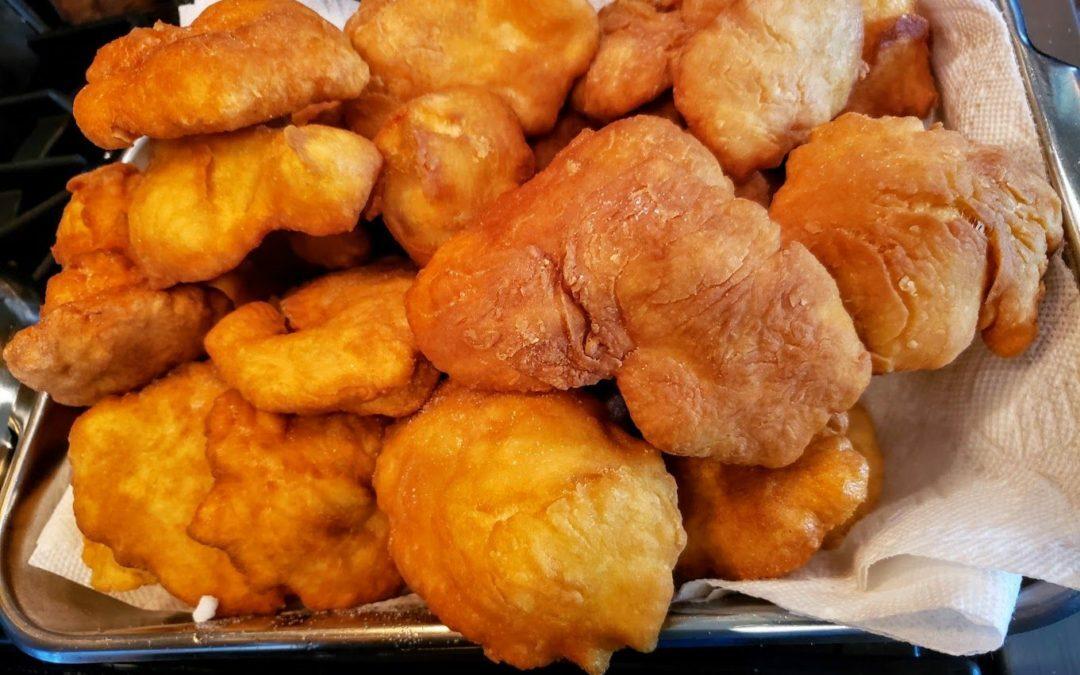 Fried Bannock and Smoked Bannock with Optional Cinnamon Sugar