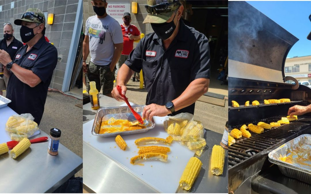 Grilled Butter Flavour Ribs of Corn